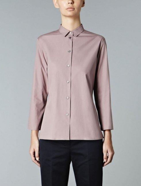 S MAX MARA - Camicia in popeline di puro cotone