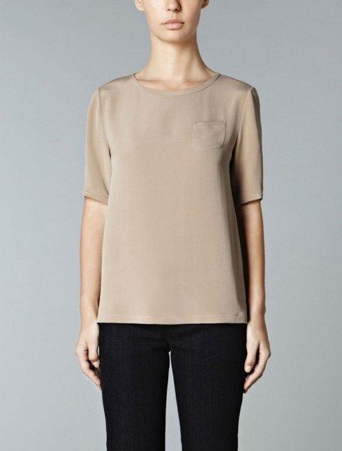 S MAX MARA - T-shirt in crepe de chine di pura seta