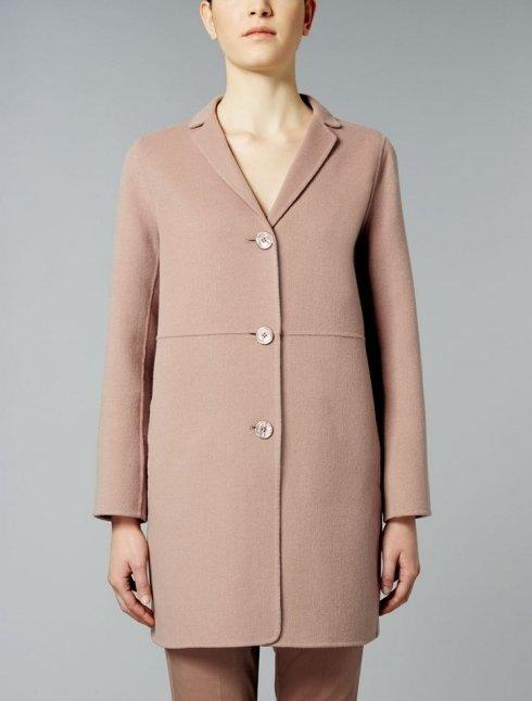 S MAX MARA - Cappotto in doppio di lana e angorà