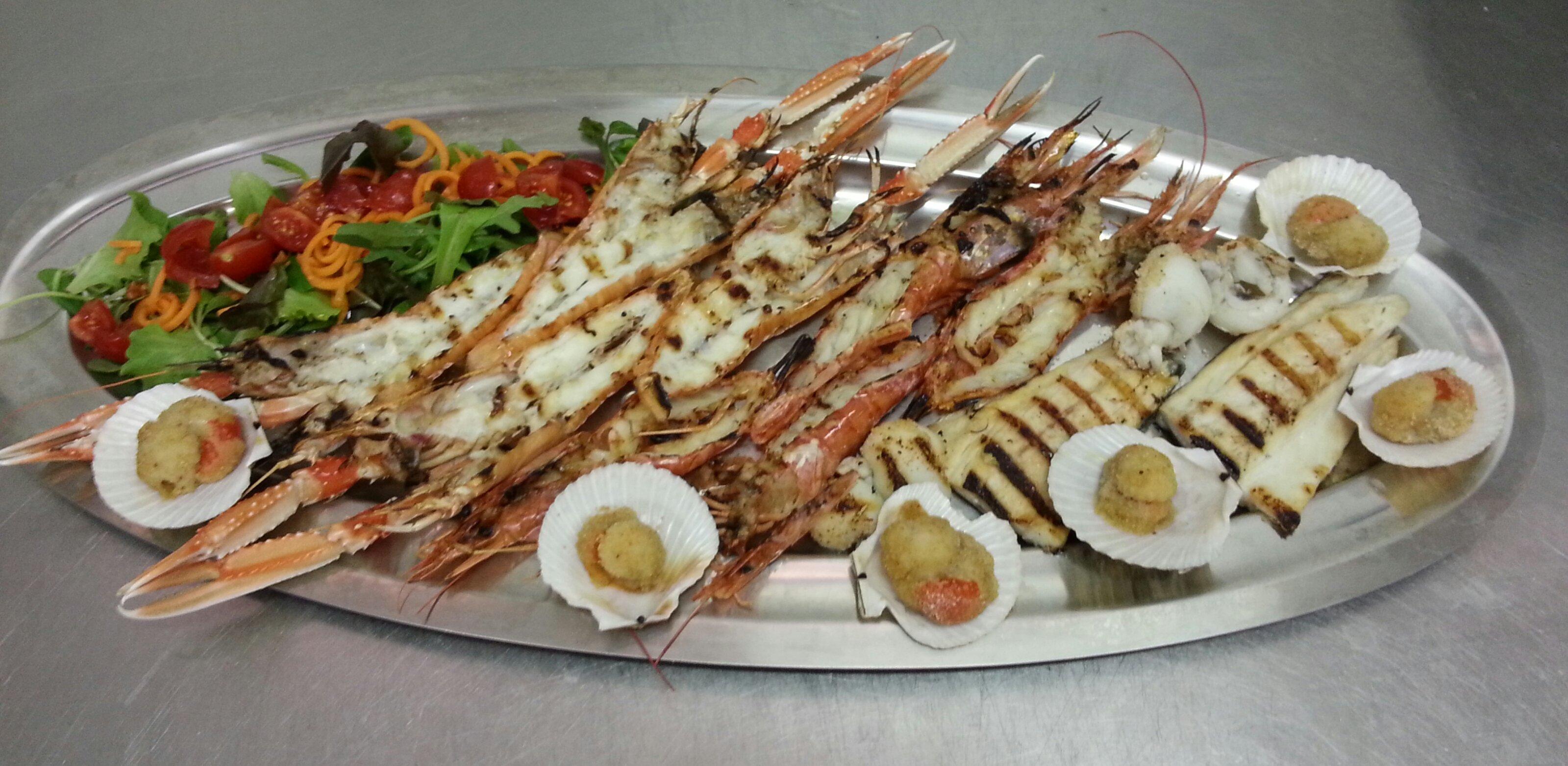Grigliata di pesce gamberoni a Piazzola sul Brenta