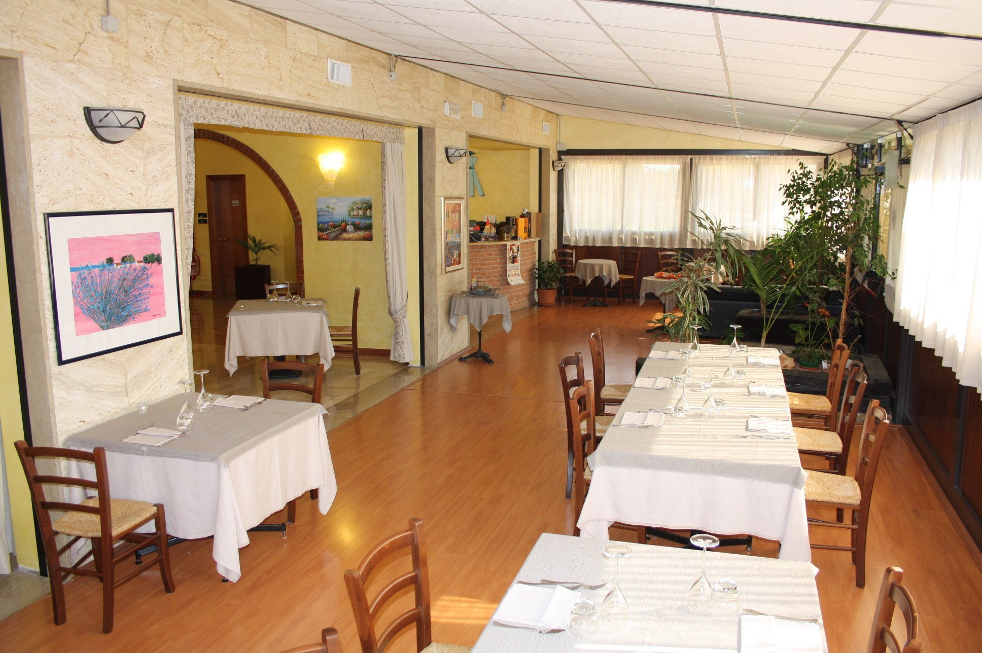 Interno del Ristorante Antica Boschiera a Piazzola sul Brenta
