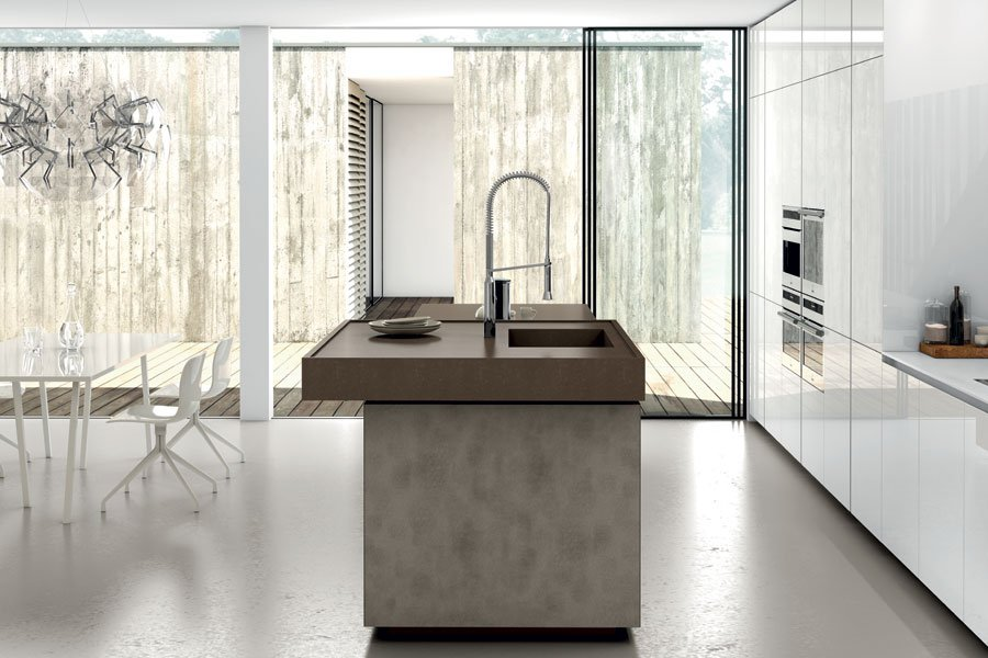 Interno di una cucina moderna