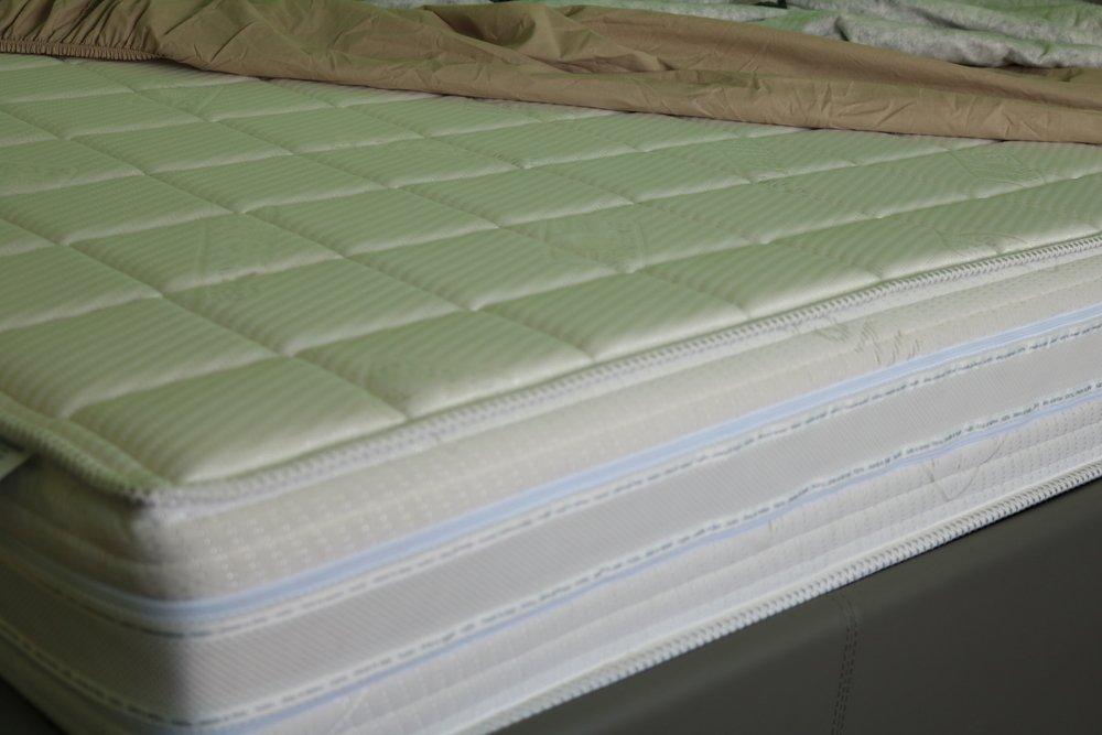 primo piano di un materasso