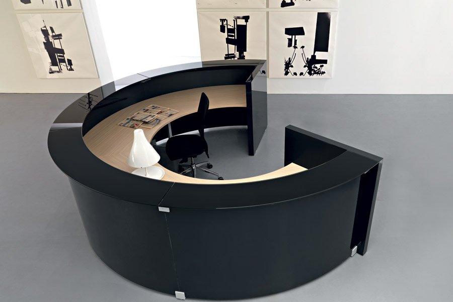 scrivania semicerchio