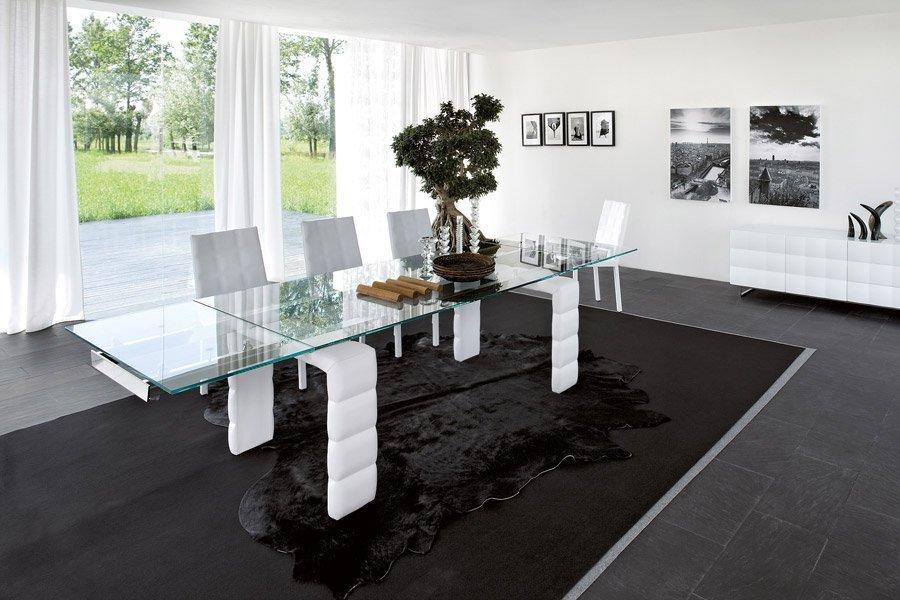 lungo tavolo rettangolare per salotto