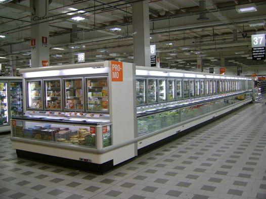Frigoriferi per grandi supermercati e aree di alimentazione