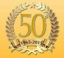 un logo con scritto 50  1965-2015