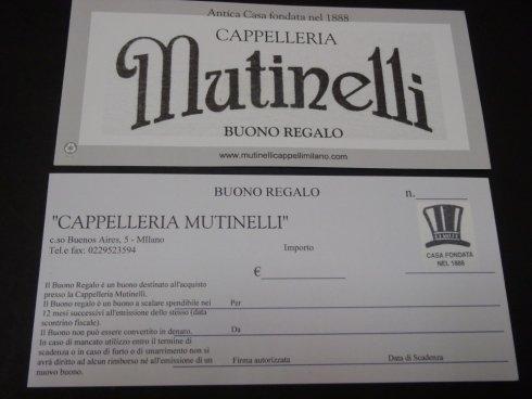 Buono regalo Mutinelli