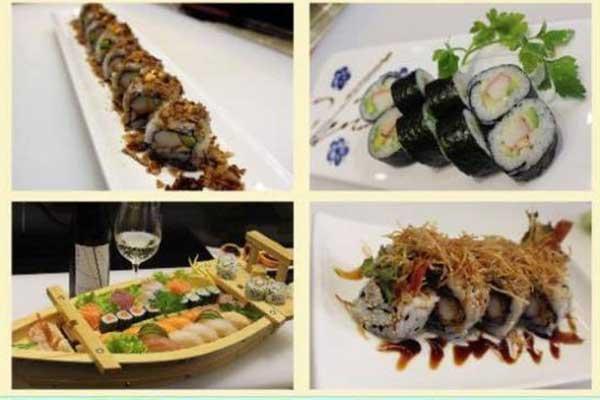 Mix di piatti giapponesi