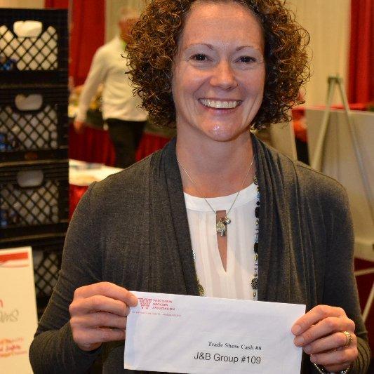 Megan Olsen won $100 Trade Show Cash!