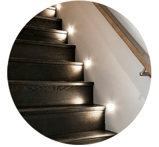 LED lighting installed next to stairs in Perth