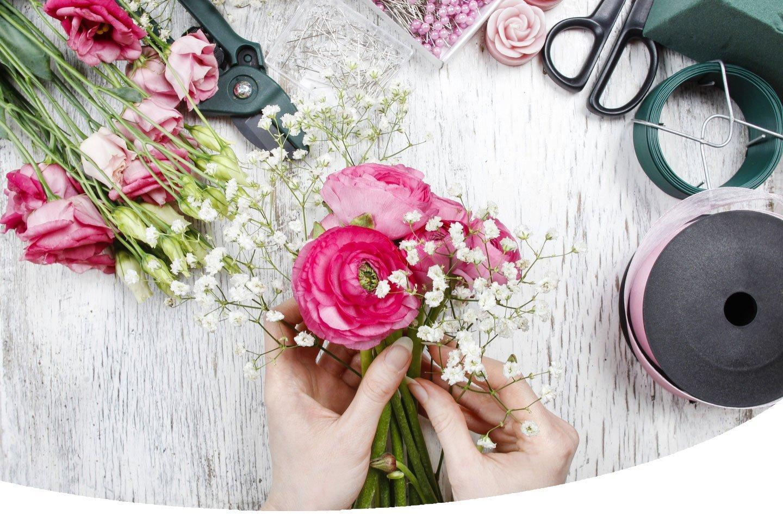 realizzazione mazzo di fiori