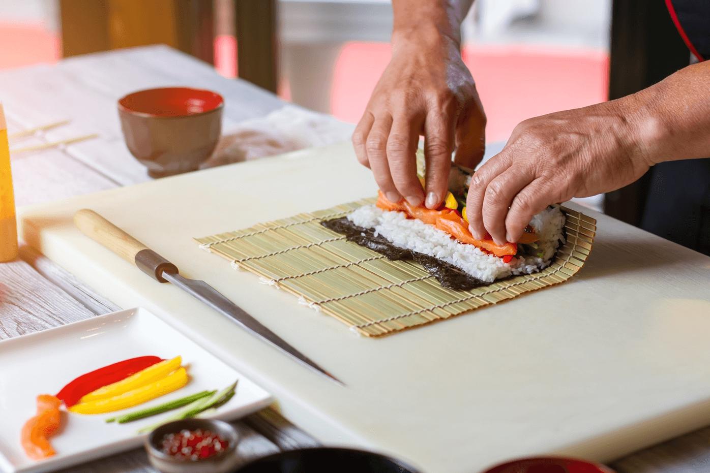 Preparazione del sushi a Brescia