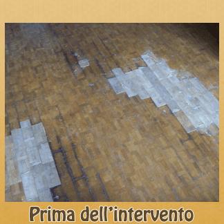pavimento legno rovinato