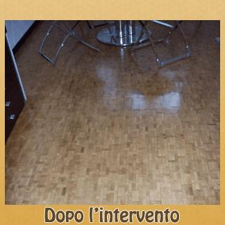 pavimento legno ripristinato