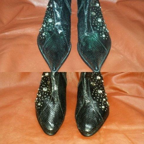 dRinnoviamo le scarpe fuori moda arrotondano o tagliando le punte eccessivamente lunghe delle scarpe da donna.