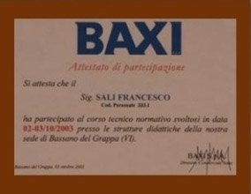 Corso di formazione Baxi