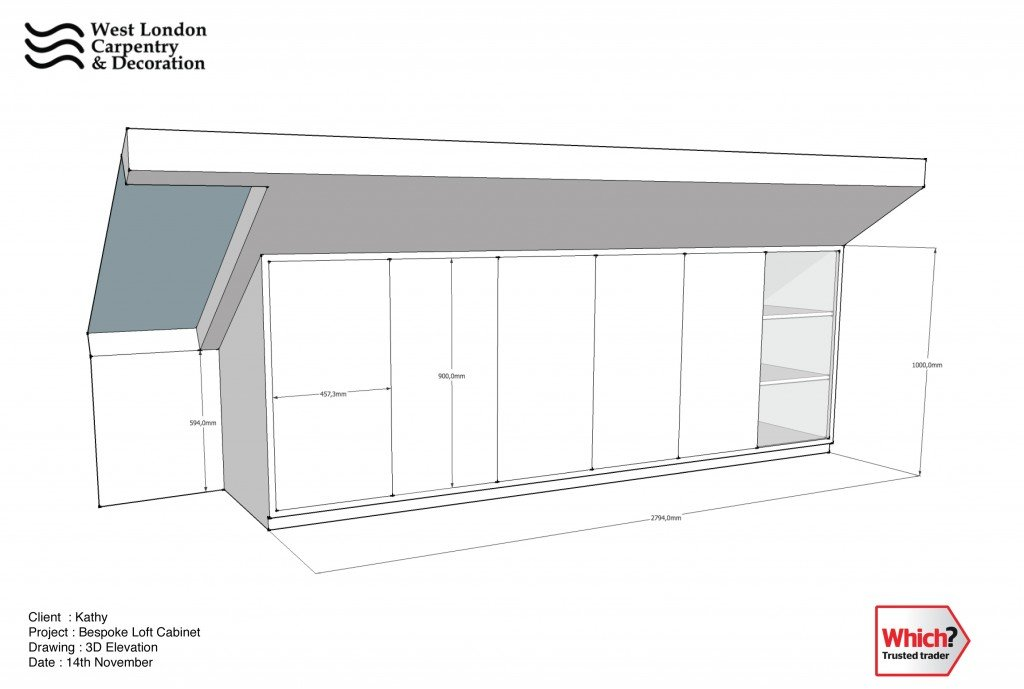 Sketch of cabinets
