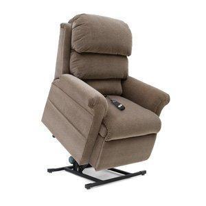 beige coloured recliner