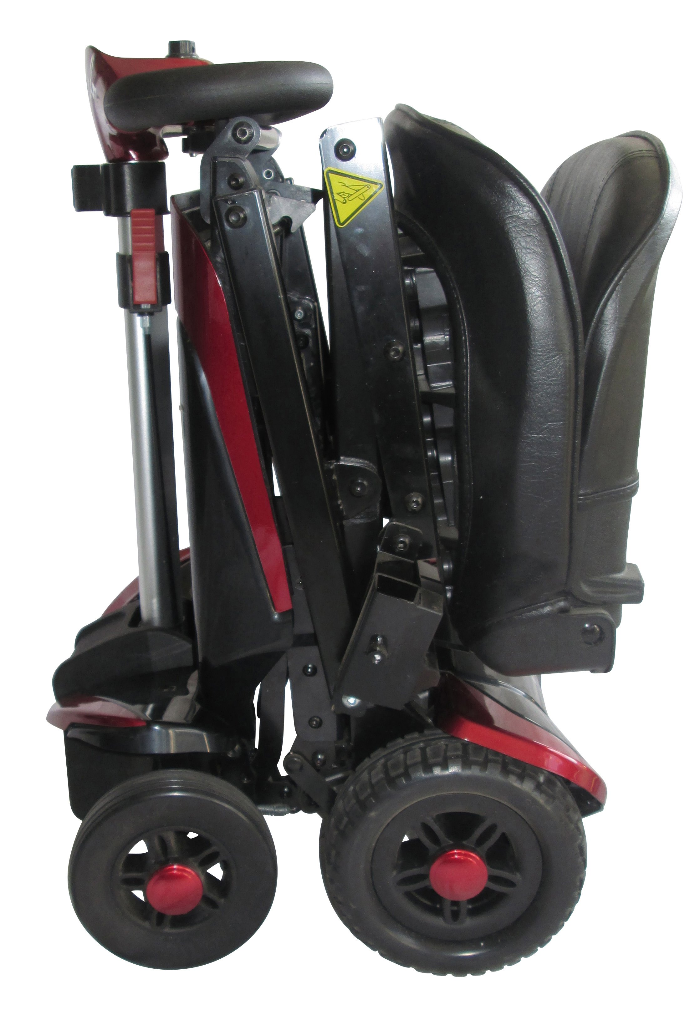 collapsed mobility scooter with wheels