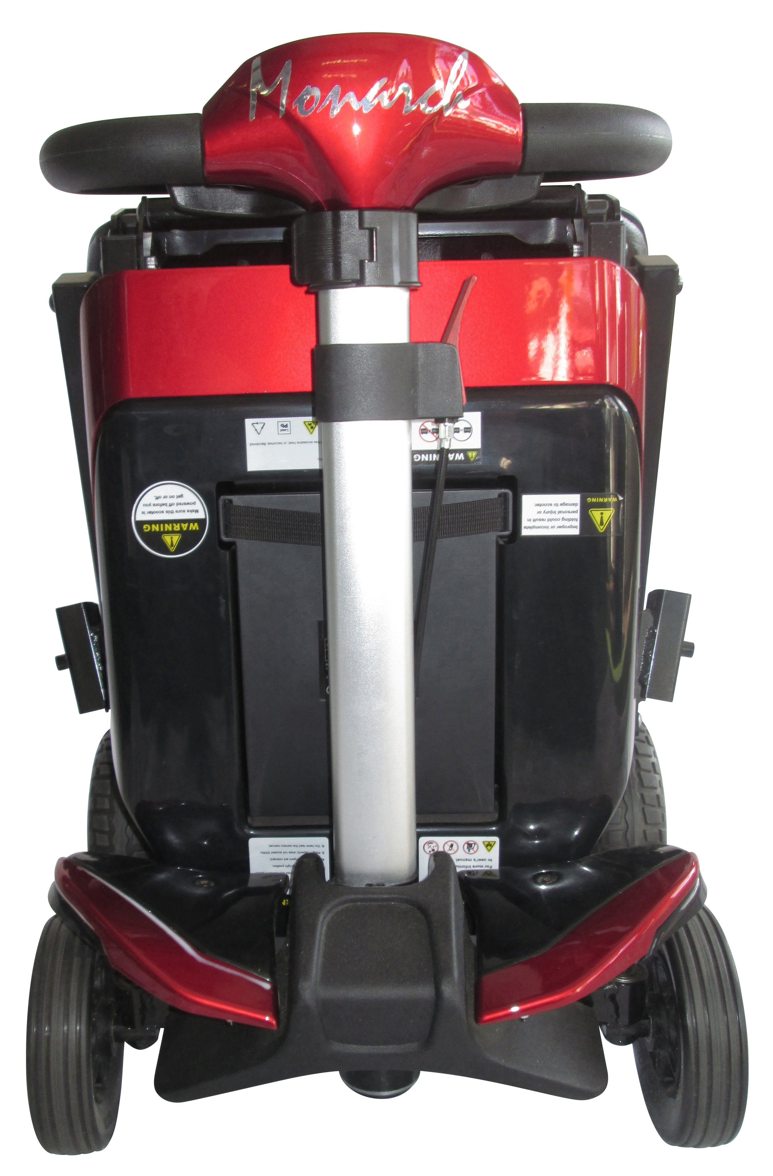 rear view of the mobility scooter
