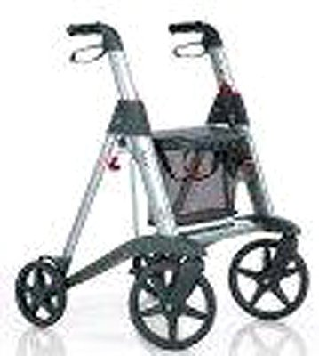wheelchair with silver handle