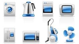 ventilatore, forno a microonde, robot da cucina