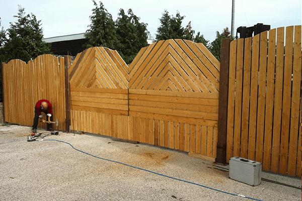 recinzione di legno