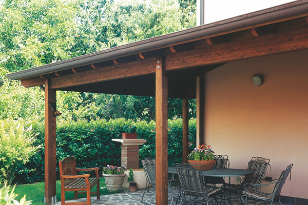 tettoia in legno
