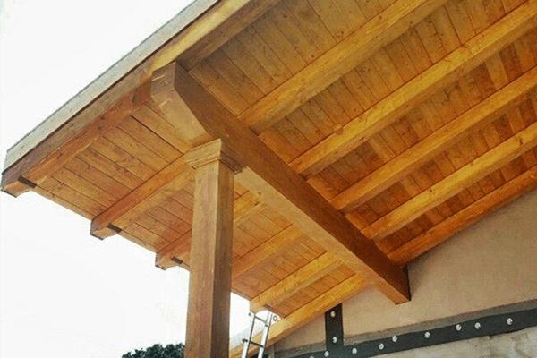 travi a vista in legno