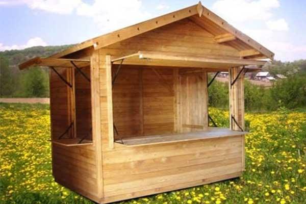 chiosco in legno per fiere