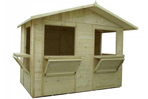 chiosco in legno per mercatini
