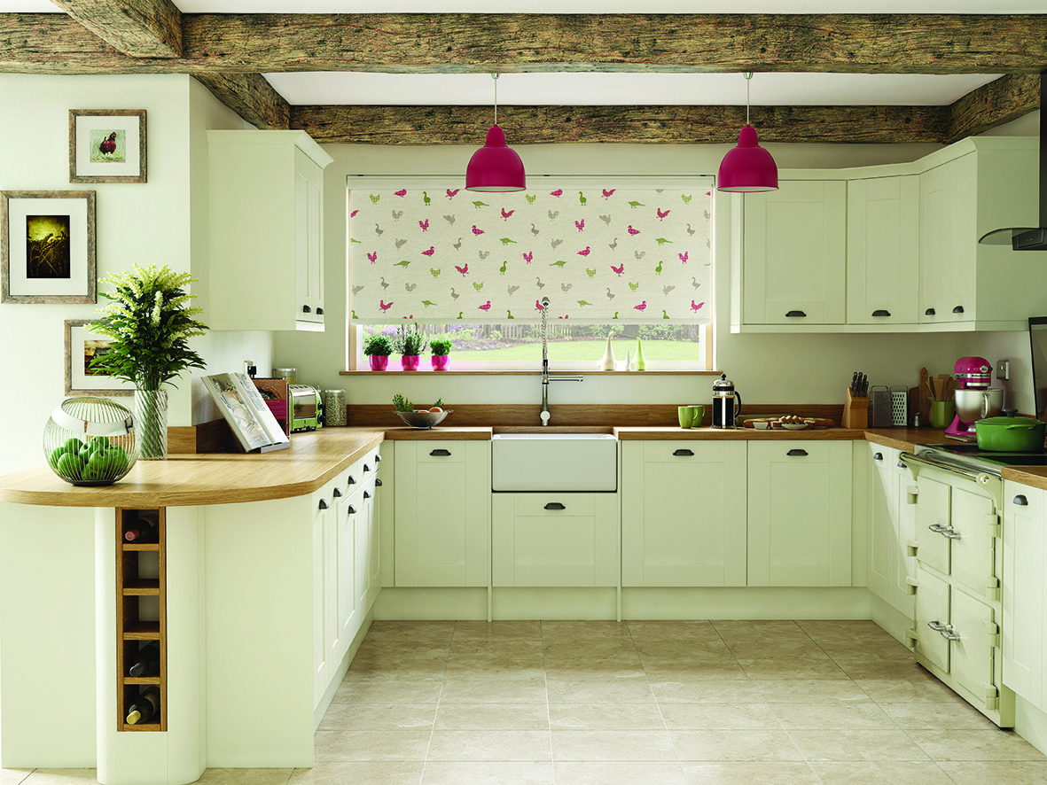 Delicieux Colourful Kitchen Roller Blinds