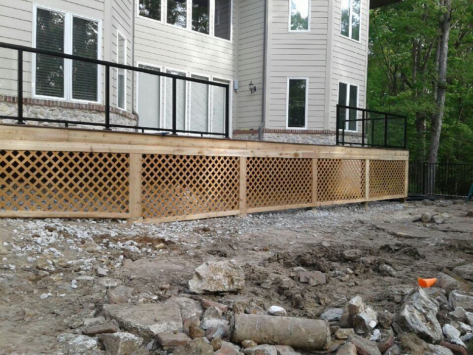 Lattice around deck