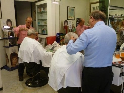 I parrucchieri in azione
