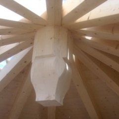 Realizzazione tetti in legno lamellare