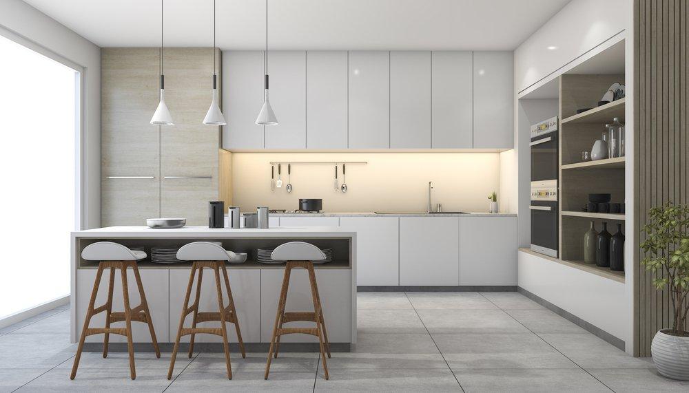 design cucina moderna interno giorno