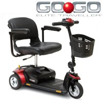 Pride GO GO Elite Traveller 3-Wheel Scooter