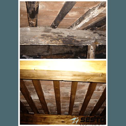prima e dopo la riparazione
