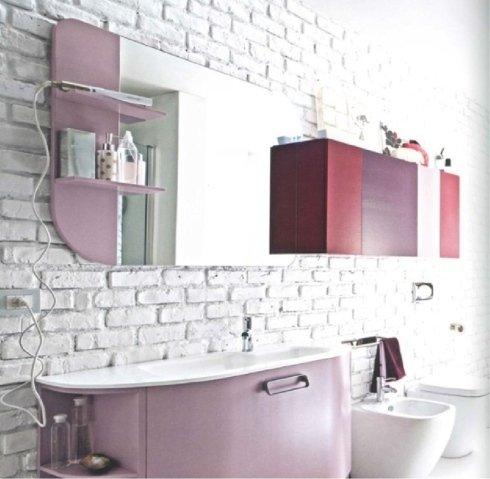 mobile bagno rosa