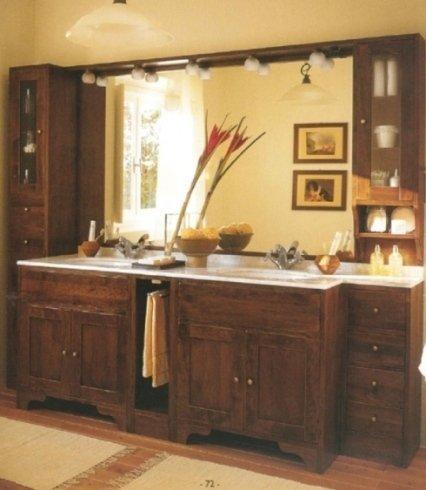 mobile bagno legno rustico