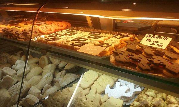 Biscotti di Halloween e allo zenzero alla panetteria a Livorno