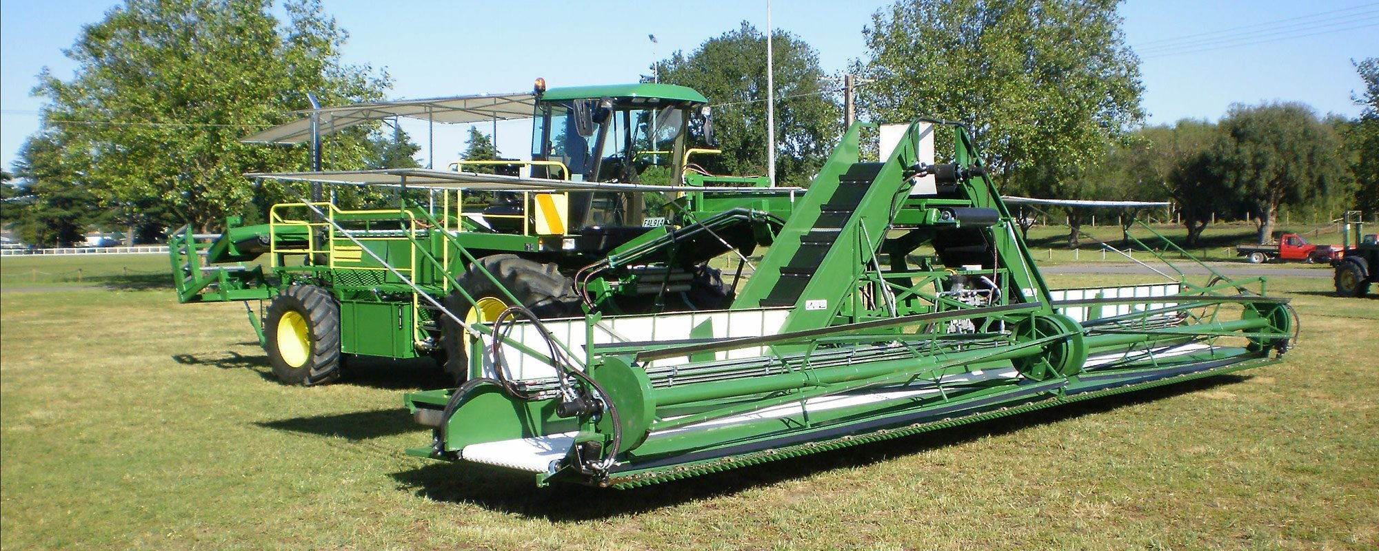 View of a big farm machine