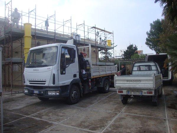 veicoli per trasporto materiali edili