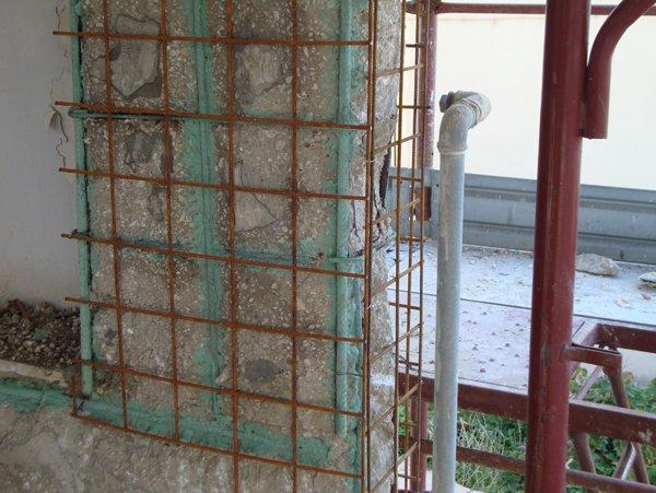 recinzione in un cantiere