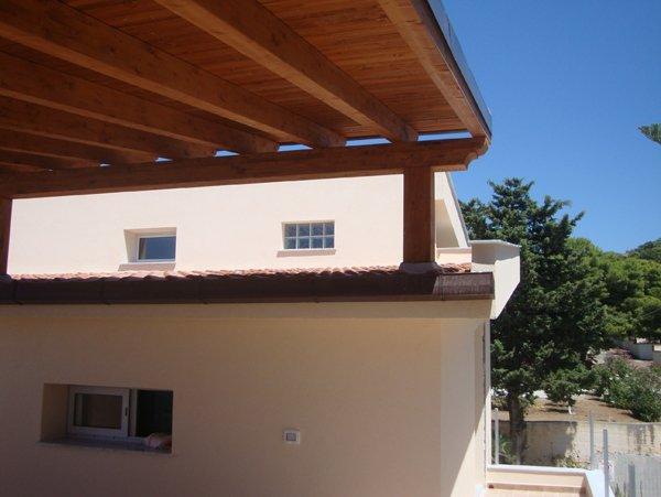vista angolare tettoia