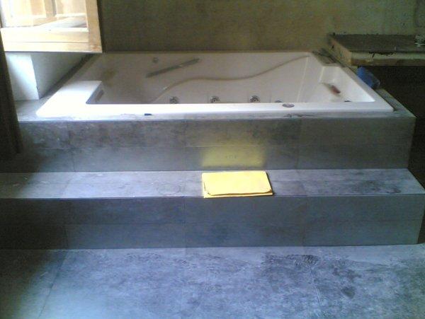 vasca in installazione