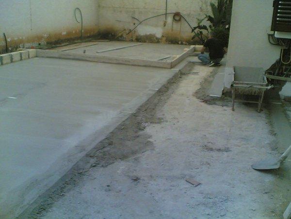 pavimento con cemento