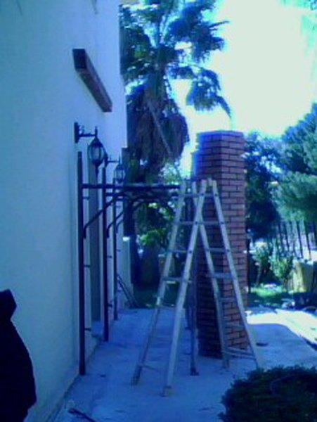 lavori in corso parte esterna del condominio
