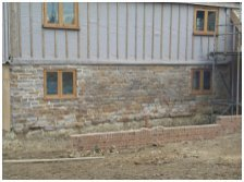 partial brick walling
